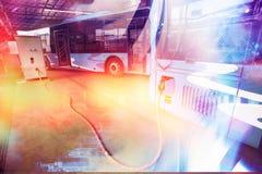 Ônibus elétrico puro imagem de stock royalty free