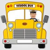 Ônibus escolar isolado em um fundo branco Ilustração lisa do vetor do estilo ilustração stock