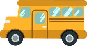 Ônibus escolar ou shuttleon do vetor o Blackground branco ilustração stock