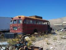Ônibus escolar quebrado Fotografia de Stock Royalty Free