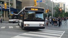 Ônibus especial em Toronto imagens de stock