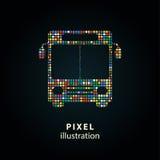 Ônibus - ilustração do pixel Imagens de Stock Royalty Free