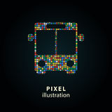 Ônibus - ilustração do pixel Fotografia de Stock Royalty Free