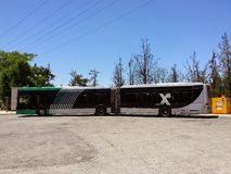 Ônibus longo Fotos de Stock