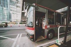 Ônibus no Tóquio imagem de stock