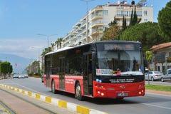 Ônibus público em Antalya, Turquia Fotografia de Stock Royalty Free
