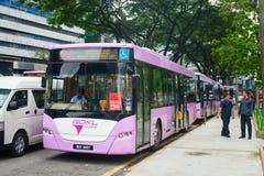 Ônibus público livre no centro da cidade de Kuala Lumpur Fotos de Stock Royalty Free