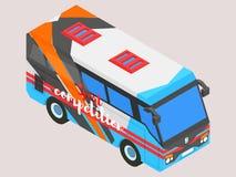 Ônibus pequeno isométrico dos esportes Imagem de Stock Royalty Free