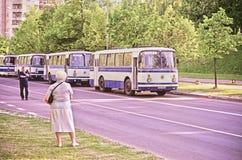 Ônibus soviético velho Fotos de Stock