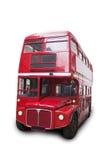 Ônibus vermelho do ônibus de dois andares do vintage do londrino fotografia de stock