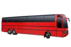 Ônibus vermelho Triaxial Fotografia de Stock Royalty Free