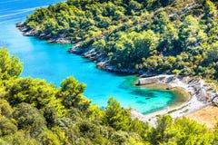 Ö av Brac i Kroatien, Europa fotografering för bildbyråer