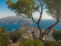 Ö av Capri royaltyfri fotografi