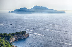 Ö av Capri, Italien Arkivbilder