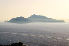 Ö av Capri, Italien Arkivbild