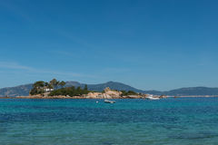 Ö av Castagna, Korsika, Frankrike Royaltyfri Fotografi