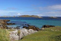 Ö av Coll, Skottland Arkivfoto