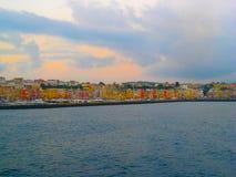 Ö av den Procida Campaniaregionen nära Naples italy Fotografering för Bildbyråer