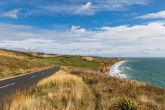 Ö av det kust- landskapet för Wight arkivfoton