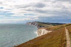 Ö av det kust- landskapet för Wight royaltyfri bild