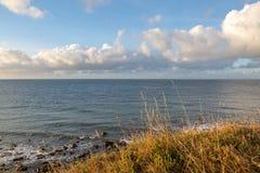 Ö av det kust- landskapet för Wight arkivfoto