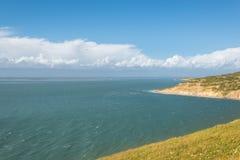 Ö av det vita landskapet för lugna hav arkivfoton