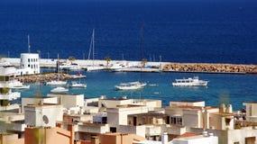 Ö av Ibiza, Islas Baleares, Spanien Arkivbilder