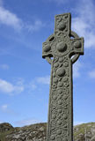 Ö av Iona Ancient Celtic Cross Royaltyfri Bild