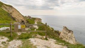 Ö av Portland, Jurassic kust, Dorset, UK Fotografering för Bildbyråer