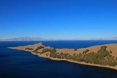 Ö av solen, Titicaca sjö, Bolivia Fotografering för Bildbyråer
