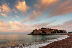 Ö av St Stefan Montenegro Arkivfoto