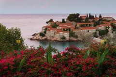 Ö av St Stefan Montenegro Royaltyfri Fotografi