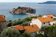 Ö av St Stefan Montenegro Arkivbild