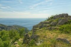 Ö Cres i Adriatiskt havet Arkivbild