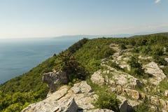 Ö Cres i Adriatiskt havet Arkivfoto
