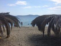 Ö Evia ett ställe som där reser arkivbild