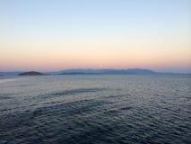 Ö Evia ett ställe som där reser Royaltyfri Foto
