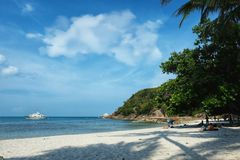 Ö för samui för kristallfjärdstrand, Thailand royaltyfria bilder