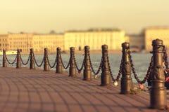Ö för St Petersburg kanalstaket Fotografering för Bildbyråer