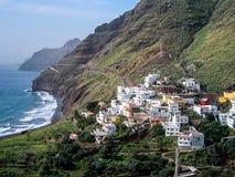 Ö för Tenerife kustkanariefågel, Spanien arkivbild