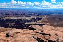 Ö i himlen Canyonlands nationalpark utah Royaltyfria Bilder