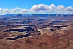 Ö i himlen Canyonlands nationalpark utah Arkivfoto