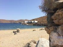 Ö Kythnos ett ställe som där reser Fotografering för Bildbyråer
