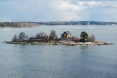 Ö nära Helsingfors, Finland arkivfoto