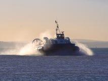 Ö om wight till den Portsmouth svävfarkosten Arkivbild