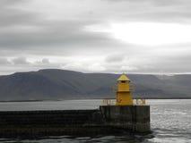Ö - Reykjavik - fyr Arkivbild