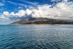 Ö Samothraki i Grekland arkivbilder