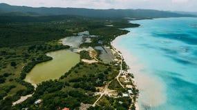 Ö Saona Republica Dominicana royaltyfri foto