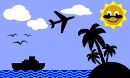 ö till tropiskt lopp Arkivbilder