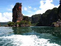 Ö-vagga i det Andaman havet arkivbild